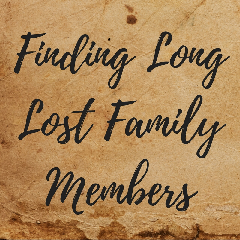 to find a lost family member